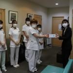 店舗近隣施設385ヵ所にマスク約161,500枚を寄付